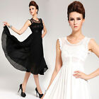 New Women Chic Vogue Chiffon Lace Ball Party Evening Formal Gown Club Dress 3sz