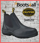 Oliver Steel Toe Work Boots 34620 Black Pull On Brand New *All Sizes