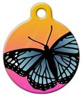 BUTTERFLY SUNSET - Custom Personalized Pet ID Tag for Dog and Cat Collars