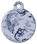 BLUE KOI - Custom Personalized Pet ID Tag for Dog and Cat Collars