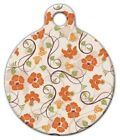 FLORAL PATTERN - Custom Personalized Pet ID Tag for Dog and Cat Collars