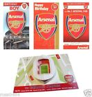 Arsenal FC Birthday Card Selection (Some With Badge, Music, Pop Up 3D...) Gift