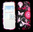 Pink Butterfly Flower Silicone Gel Case Cover For Nokia Asha N300
