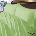 SAGE  STRIPE COMPLETE USA BEDDING ITEM 1000TC 100% COTTON CHOOSE SIZE AND ITEMS