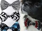 Pet Dickie Bow Tie Dog Cat Cute Adjustable Neck Collar Pet Fashion Patterned