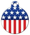 STARS AND STRIPES - Custom Personalized Pet ID Tag for Dog and Cat Collars