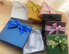 Bracelet bangle gift box with satin style bow with silver edge ribbon