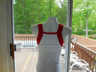 NEW Men's SEXY Gunit Style Tank Top WHITE w/RED Trim, SIZE:  LARGE, X-LARGE