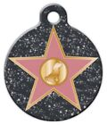 HOLLYWOOD STAR - Custom Personalized Pet ID Tag for Dog and Cat Collars