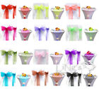Organza Chair Sash Bows / Table Runner For Wedding Anniversary Party Decorations