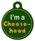 GREEN BAY PACKERS CHEESE HEAD - Custom Personalized Pet ID Tag for Dogs and Cats
