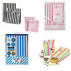 Stylish Candy Stripe Paper Party Bags with stickers, different colours available