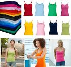 Fruit of the Loom FOTL Womens Strap Vest Ladies Fitted Top Lady Fit T Shirt