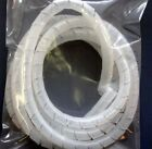 "2 Feet of 1 8"" Spiral Wrap Tubing Available in 2 Colors Black & Natural (Clear)"