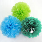 30pcs 4-Sizes Tissue Paper Pom-Poms Flower Ball Wedding Party Outdoor Decoration