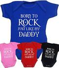 BabyPrem Baby Clothes My Daddy Rocks Bodysuit Vest Boys Girls Fathers Dads Gift