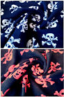"Anti-Pil Polar Fleece Fabric - Skulls Pattern -59"" (150cm) wide - per metre/half"