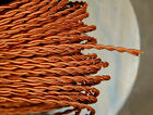 25' Rayon Cloth Covered Twisted Electrical Wire - Vintage Lamp Cord Antique Fans