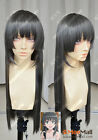 Toaru Kagaku no Railgun Saten Ruiko 80cm Charcoal Colour Cosplay Party Wig
