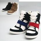 Womens Hightop Wedge Single Strap Sneakers Women High Top Trainers Shoes H512