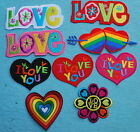 I Love You Heart Lover Mate Amour Badge PATCH Motif Embroidery Hotfix pièce