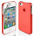 NEW STYLISH SLIM CRYSTAL CLEAR CASE COVER FOR APPLE IPHONE 4 4S + FREE SCREEN