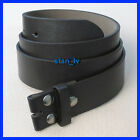 Внешний вид - BLACK BROWN PLAIN LEATHER BELT STRAP SNAP ON NO BUCKLE CASUAL DRESS MENS WOMENS
