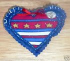 PINS~Patriotic~Stars & Stripes~Puffy Heart Shaped~Designs Vary~NEW~FREE SHIP