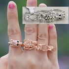 three triple finger ring cuff wrap topshop kpop punk gothic skull skeleton crown