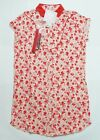 NEW UNIQLO WOMEN DIP O'2ND COLLAR DRESS Red (077857)