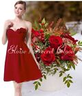 BNWT ROSIE Corsage Claret Red Chiffon Prom Evening Bridesmaid Dress 8 - 18