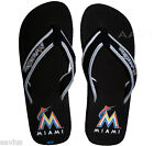 Miami Marlins Women's Mesh Cotton Officially Licensed Ladies Flip Flops Sandals