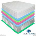 "NEW 13"" NIGHT THERAPY DELUXE EURO BOX TOP SPRING MATTRESS KING QUEEN FULL SIZES"