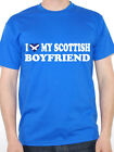 I LOVE MY SCOTTISH BOYFRIEND - Scotland / England / Novelty Themed Mens T-Shirt