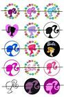 "BARBIE VARIETY 1"" ONE INCH PRE CUT BOTTLE CAP IMAGES PARTY CUPCAKE TOPPERS CRAFT"