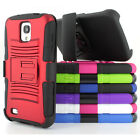 For Samsung Galaxy S4 Active I537 Rugged Armor Hybrid Case Belt Clip Holster