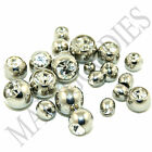 V050 Replacement Piercing Balls Clear Belly Tongue Industrial Lip 14G 3 4 5 6 mm