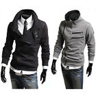 Hot New Mens Fashion Sweater Cardigan Coat Jacket Zipper Long Sleeve Slim Fit