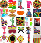 MEXICAN FIESTA SUMMER BBQ PARTY TABLEWARE ACCESSORIES & PINATAS ALL IN 1 LISTING