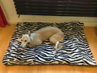 Zebra Faux Fur Deluxe Waterproof Dog Bed,Dog Beds,Pet Beds,Dogbed,Dogbeds