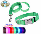 Country Brook Design® Premium Nylon Dog Collar & Leash-Various colors & sizes