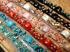 "DESIGNER TRIM 3/4"" Metal Sequins Beads TULLE NETTING Hand Sewn 1yd"