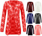 New Womens Plus Size Floral Lace Cardigan Ladies Waterfall Top Size 16 18 20 22
