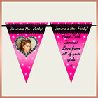 Personalised LACE Print Photo BUNTING - Wall  Banner- Hen Night Birthday Party