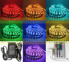 5050 SMD 300 LEDs 5M Waterproof Flexible Tape Roll Strip Lights 7 Color IP65 12V