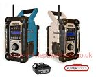 Makita BMR104 Job Site Radio with DAB – Blue or White, +1 x BL1830 3.0Ah Battery
