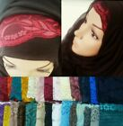 LACE NET CROCHET HIJAB BAND UNDERSCARF BONNET HAIRBAND HEADBAND HEADPEICE CAP