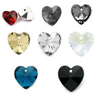 "Crystal Glass Charm Pendants Faceted Heart Shaped 14mmx14mm(4/8""x4/8"") M1204"