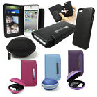 PU Leather Wallet with Detachable Hard Case & Strong EVA Headphone Shell BUNDLE