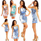 NEW WOMEN CLUBBING LEO LOOK SEXY PARTY CASUAL FLORAL BOW MINI DRESS 8,10,12uk